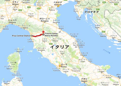 Pisa Central Station  Piazza della Stazione  56125 Pisa PI  イタリア から Firenze Santa Maria Novella   Google マップ (2).png
